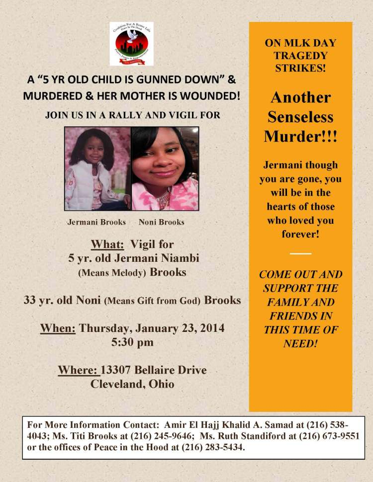 flyer for vigil for Jermani and Noni