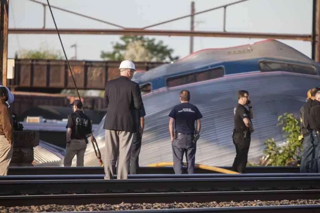 Amtrak derailment in Philadelphia