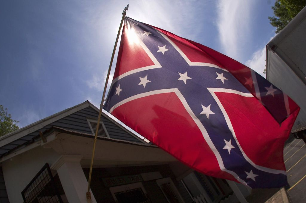 Georgia, Andersonville, The Confederate battle flag is still proudly flown in downtown, despite the town's notorious civil war history it still insists on calling itself a Civil War village.