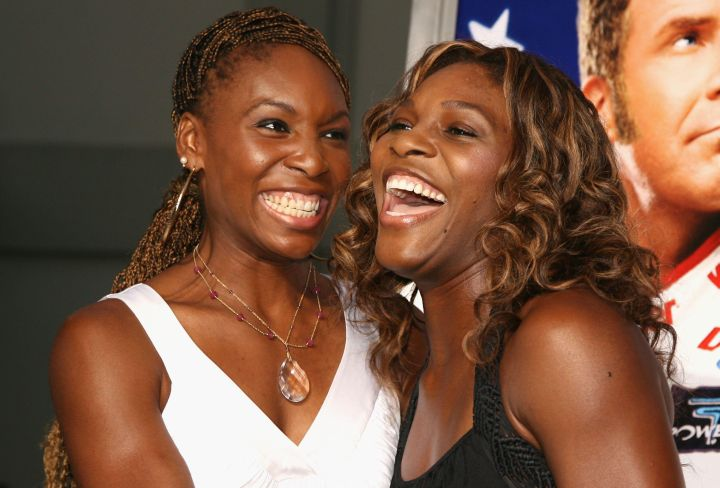 Venus and Serena arrive at a movie premiere in Los Angeles