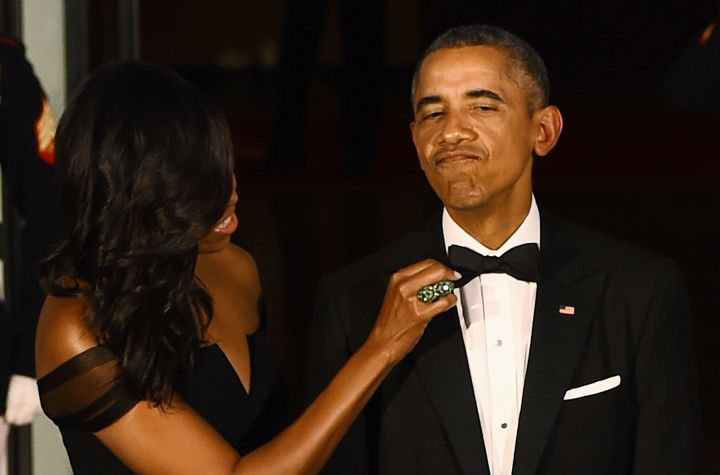 The Obamas Prep for a State Dinner in Washington (2015)