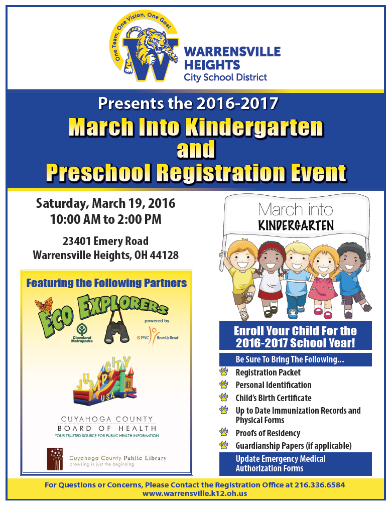 WHHS March into Kindergarten