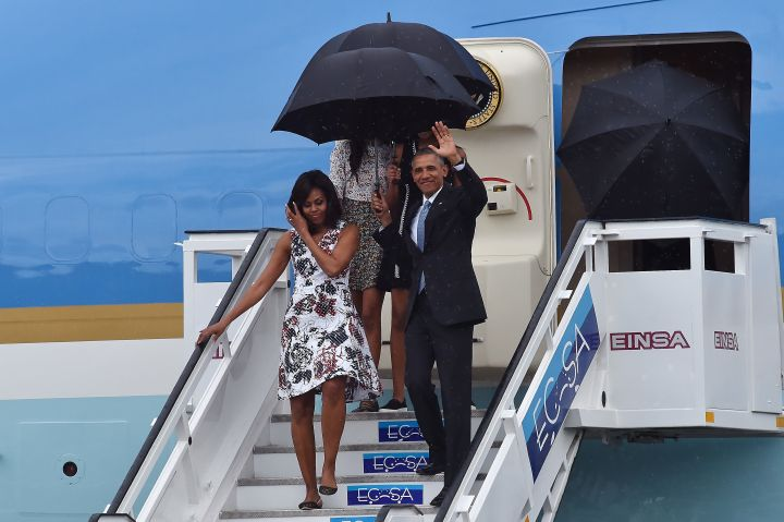 The Obamas Arrive In Cuba