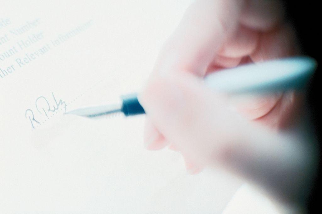 Writing a signature