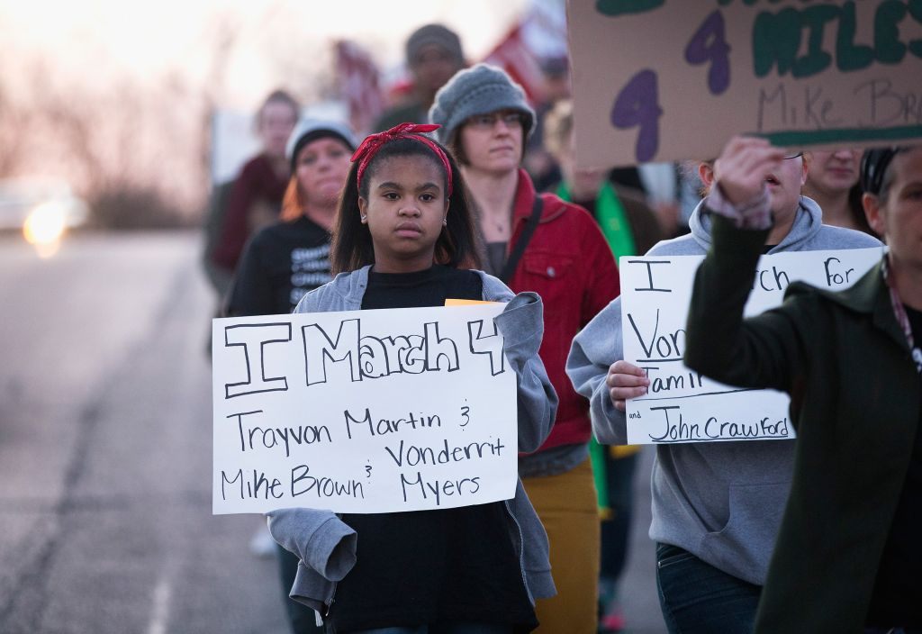 March Held In Ferguson Marking Martin Luther King Jr. Day