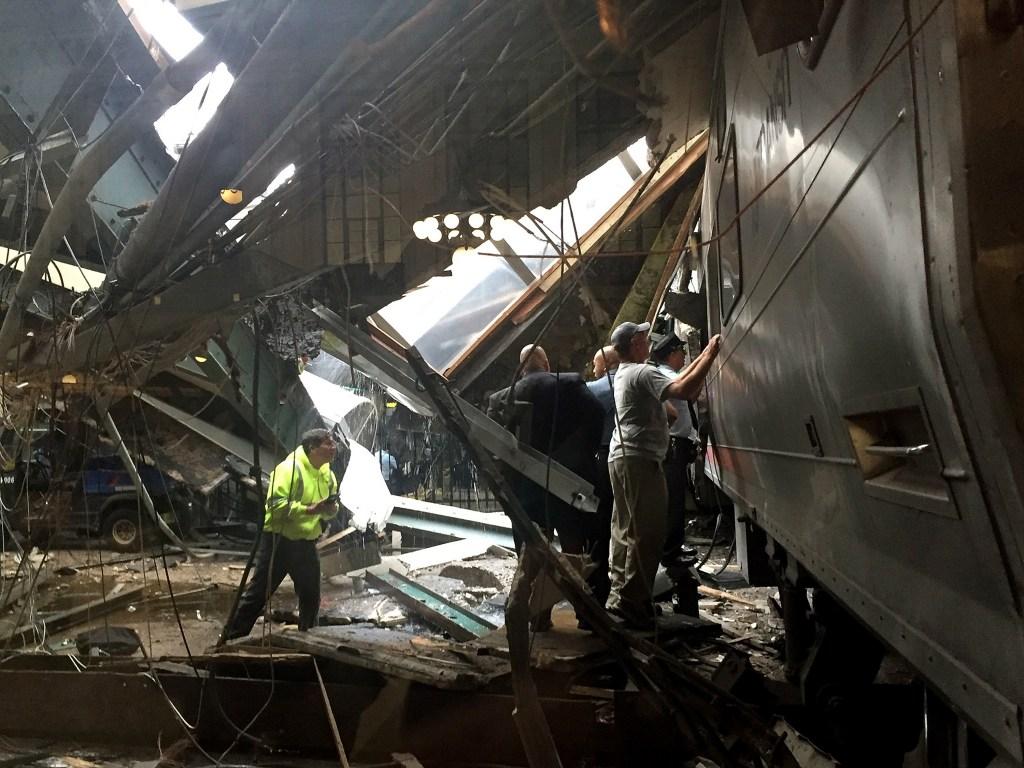 New Jersey Transit Commuter Train Crashes At Hoboken Terminal