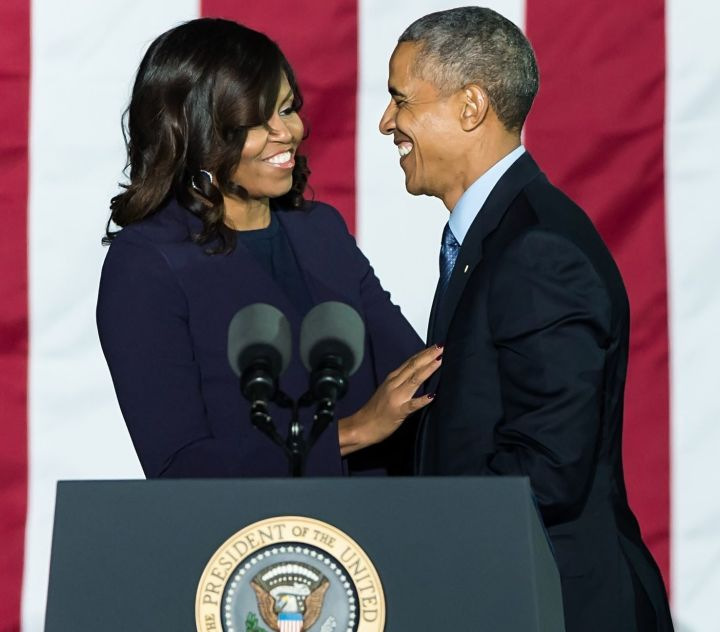 Barack and Michelle at a'Get Out The Vote' Rally