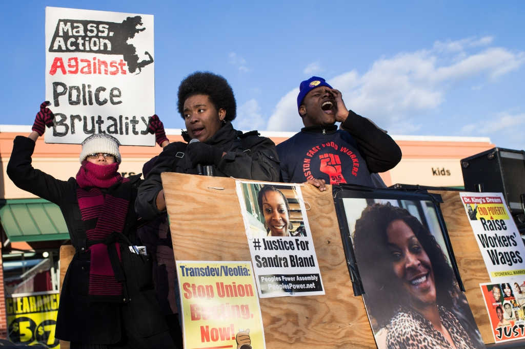 Rally Against Police Brutality In Boston
