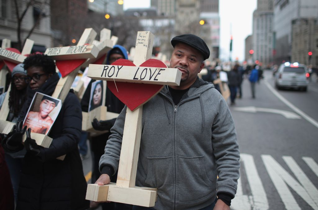 Residents And Activists Hold Anti-Violence March After Deadly Year In Chicago