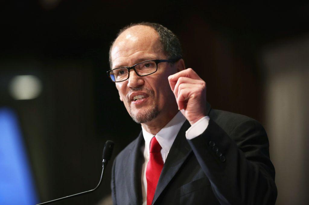 Labor Secretary Thomas Perez Delivers Economic Address At The Nat'l Press Club