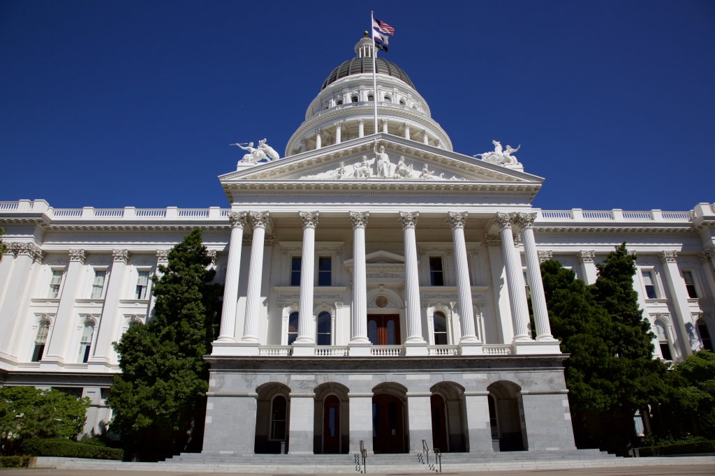 Front exterior California State Capitol