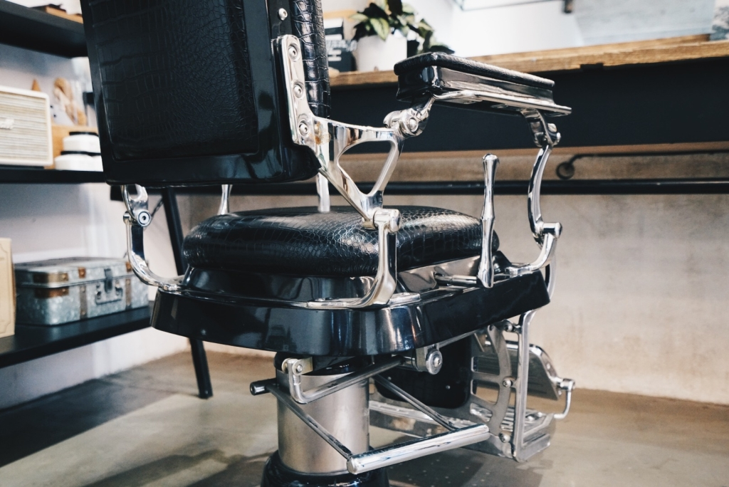Empty Chair At Barber Shop