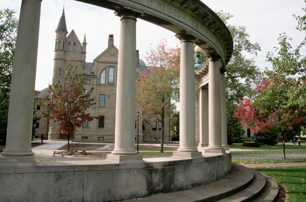 Memorial Arch and Building at Oberlin College