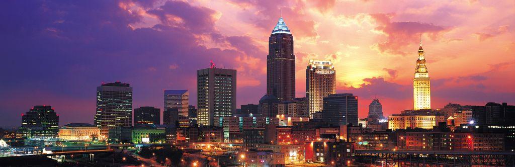 Dramatic Cleveland sunset