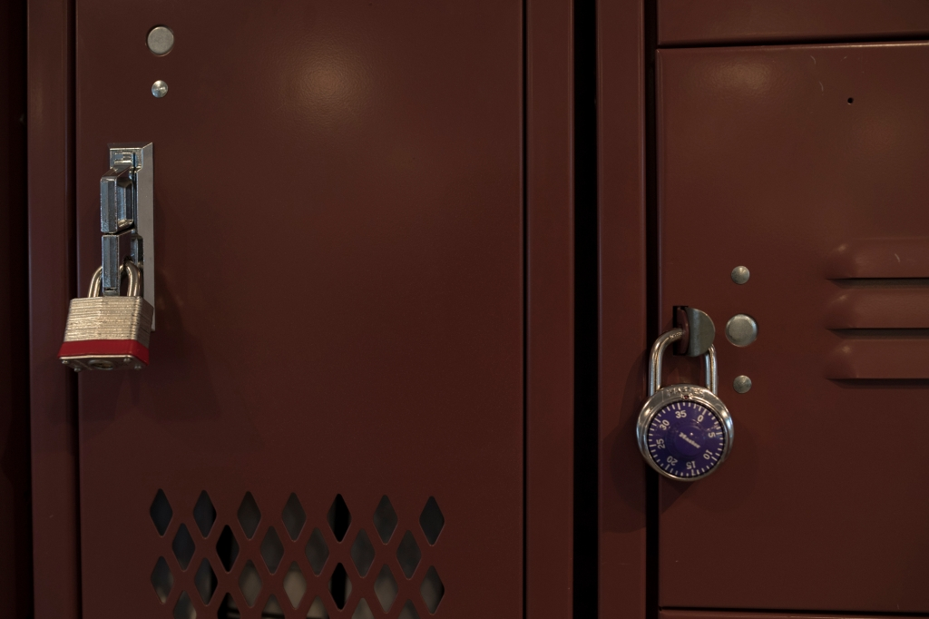 Locker with a lock