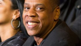 Celebrity guests attend Roc Nation Sports Presents: Throne Boxing at the Theater at Madison Square Garden, NY - Jay Z
