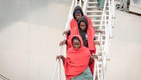 375 refugees landed in Salerno, aboard the Spanish ship '...