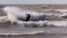 Kiteboarding on Lake Erie