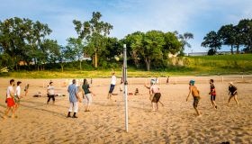 Volleyball at Edgewater Beach, Cleveland, Ohio
