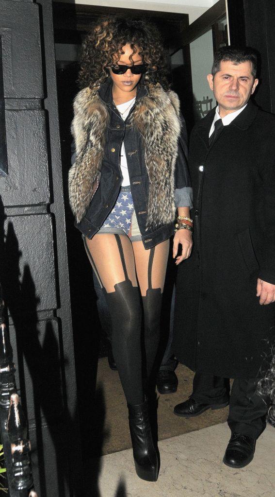Rihanna departs Nozomi Restaurant