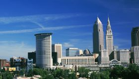 Skyscrapers in a city, Cleveland, Ohio, USA