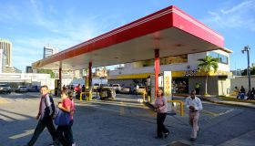 Filling station in Caracas