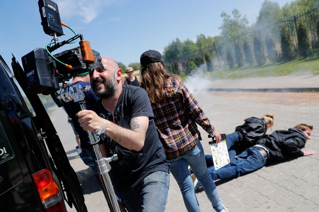 Shooting of Karen Oganesyan's Hero action film in Kaliningrad Region, Russia