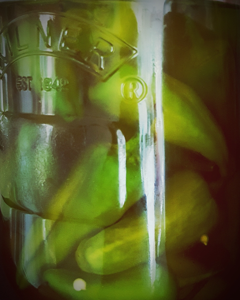 Close-Up Of Pickle Jar