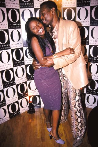 Foxy Brown, Luther Vandross 'O' Magazine launch party Metropolitan Pavilion, NYC April 12, 2000