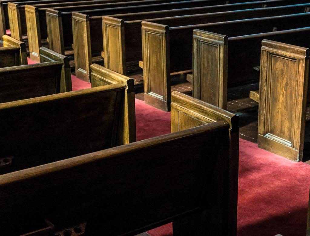 Pews in Ebenezer Baptist Church