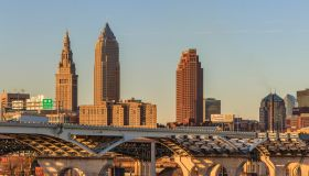 Cleveland Skyline View from Tremont Village.