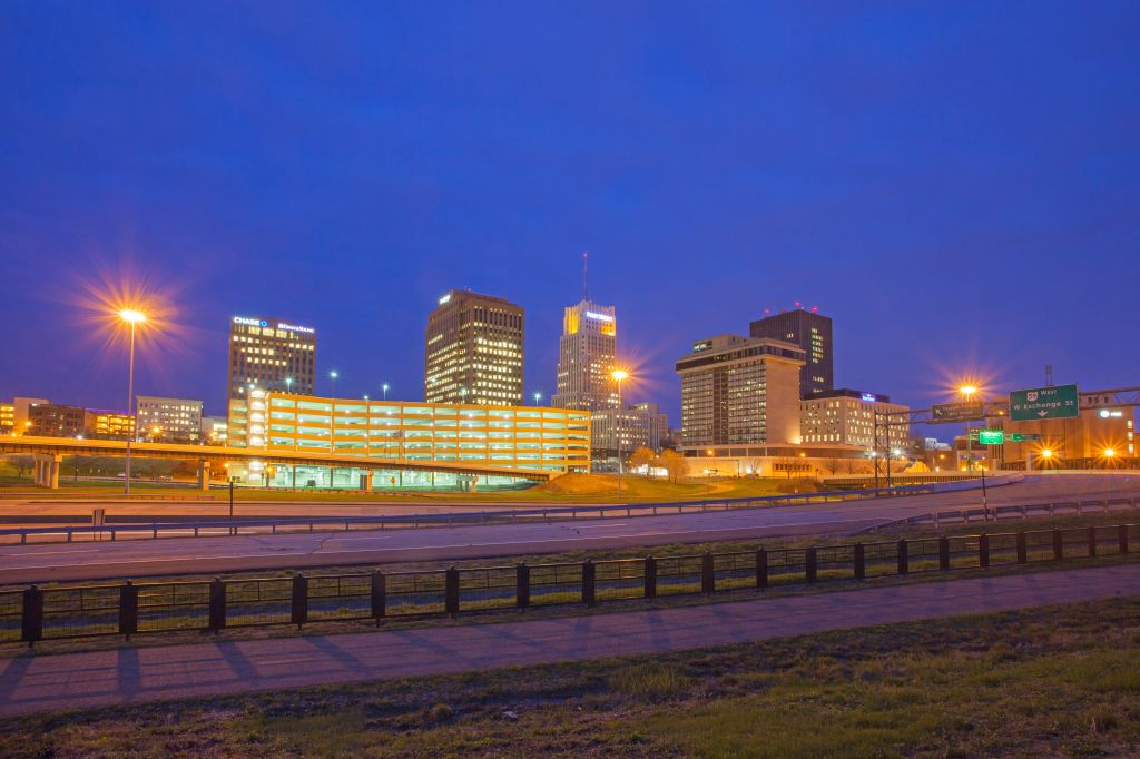 Akron, Ohio Skyline