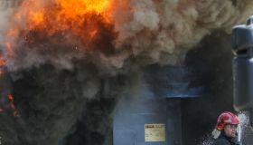 Fire In Gdansk