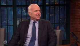 Sen.John McCain during an appearance on NBC's 'Late Night with Seth Meyers.'