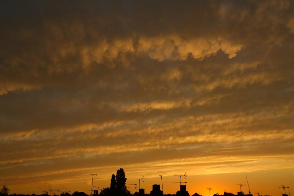 Golden sunset over North London