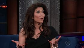 Julie Chen during an appearance on CBS' 'The Late Show with Stephen Colbert.'