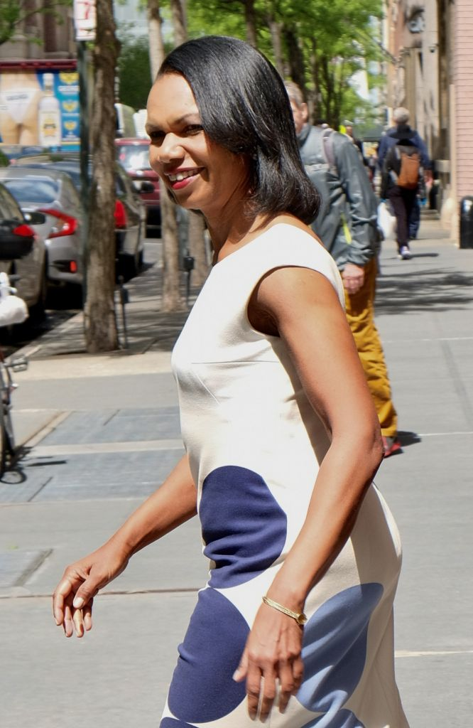 Condoleezza Rice leaves ABC studios after visiting 'The View'