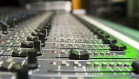 Mixer In A Recording Studio