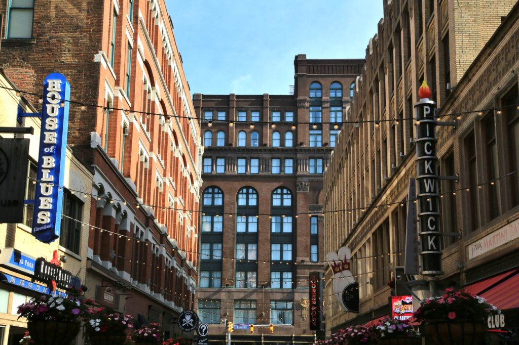 East Fourth Street Entertainment District, Cleveland, Ohio, USA