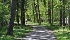Recreational towpath trail, Cuyahoga Valley National Park, Ohio, USA