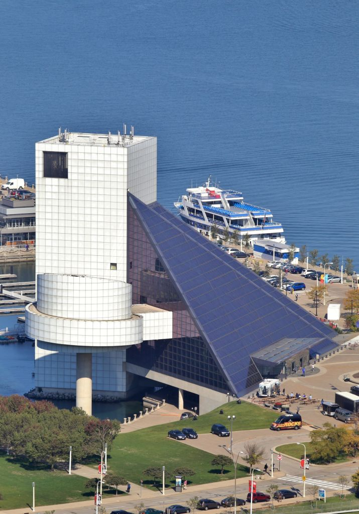 Rock and Roll Hall of Fame on the Lake Erie Shore, Cleveland, Ohio, United States