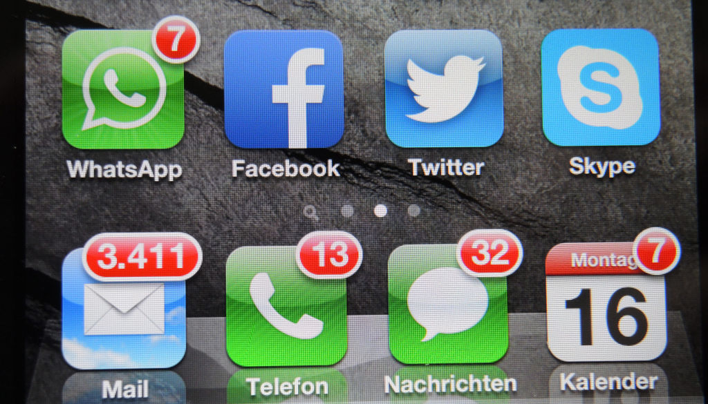 Unread mails on the phone