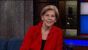 Elizabeth Warren during an appearance on CBS' 'The Late Show with Stephen Colbert.'