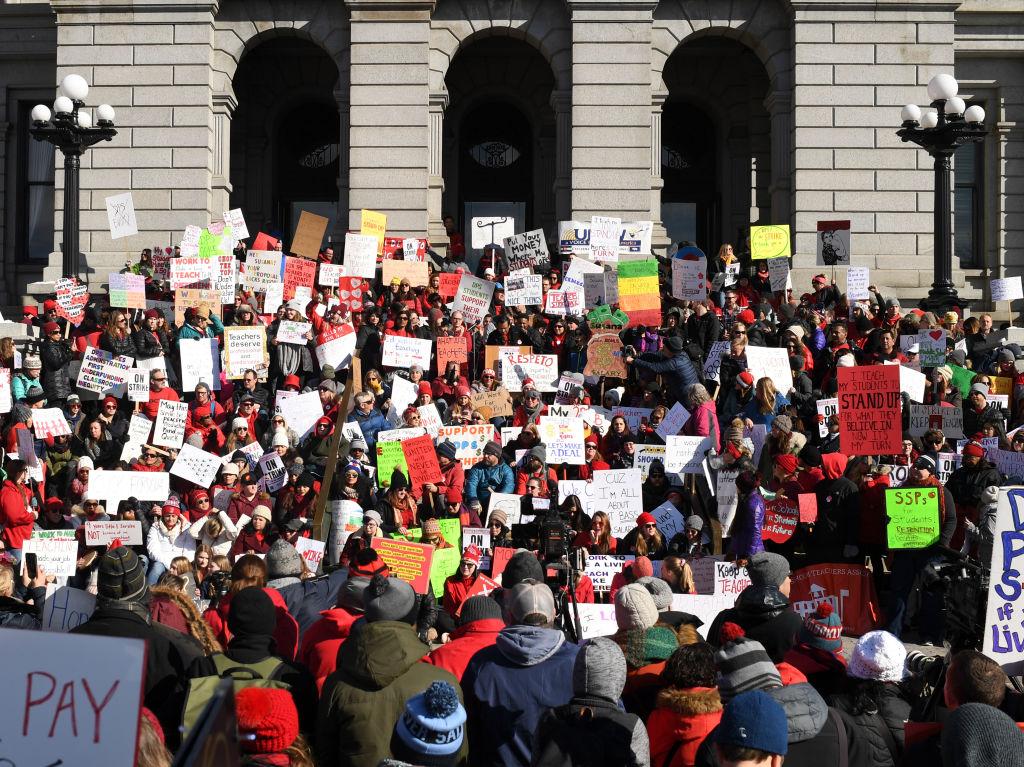 Denver teachers on strike