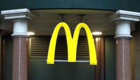 McDonalds restaurant and brand logo seen in London, UK...