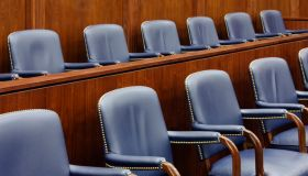 Empty Jury Seats in Courtroom