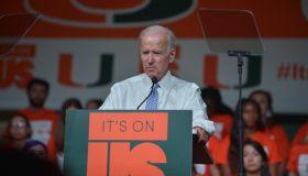 Joe Biden speaks at the University of Miami's 'It's on Us Rally' Against Sexual Assault