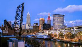 Skyline, Cleveland, Ohio, America