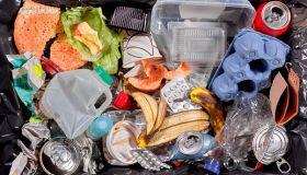 Rubbish in bin unsorted