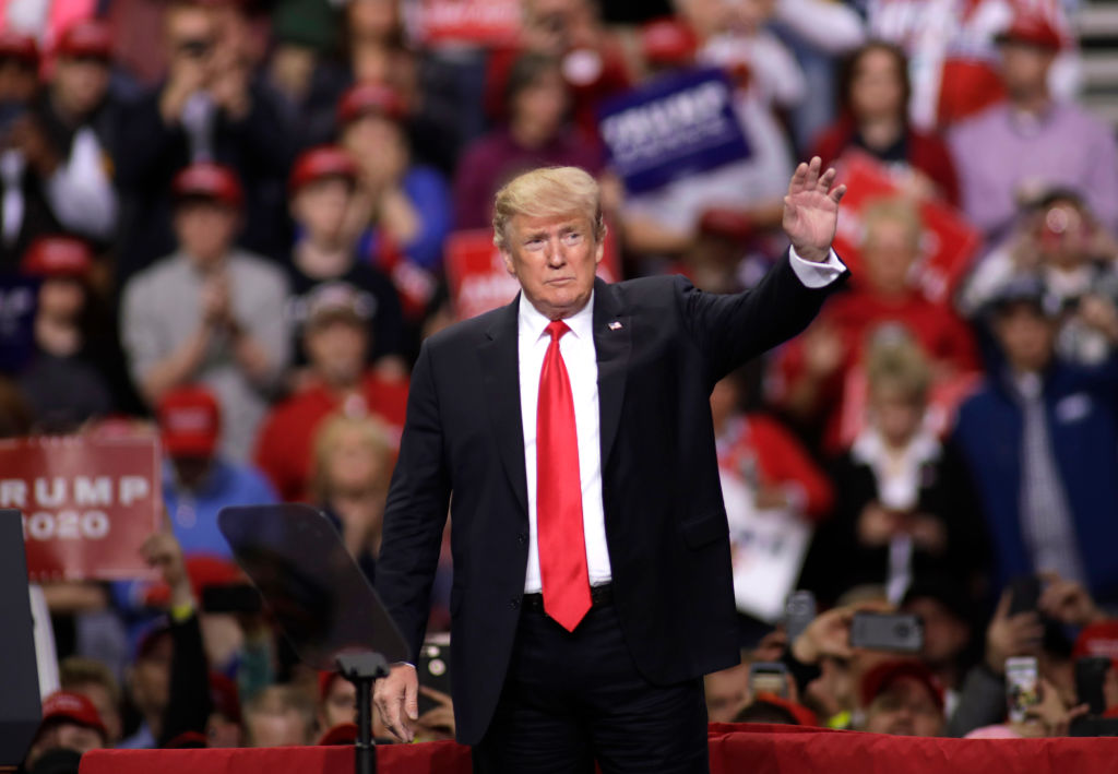 President Trump Holds Rally In Green Bay, Wisconsin